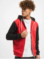Urban Classics Zip Hoodie Relaxed 3-Tone красный