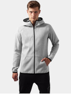 Urban Classics Zip Hoodie Athletic High Neck Interlock grau