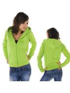 Urban Classics Zip Hoodie Ladies grön
