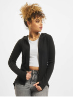 Urban Classics Zip Hoodie Athletic Interlock schwarz