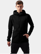 Urban Classics Zip Hoodie Athletic High Neck Interlock schwarz
