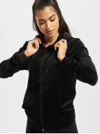 Urban Classics Zip Hoodie Ladies Velvet schwarz