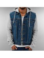 Urban Classics Zomerjas Hooded Denim Fleece blauw