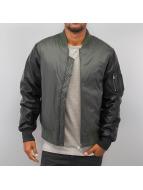 Urban Classics Zomerjas Basic Bomber Leather Imitation olijfgroen