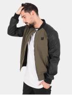 Urban Classics Zomerjas Cotton Bomber Leather olijfgroen