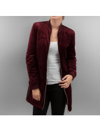 Urban Classics Zomerjas Ladies Long Velvet rood