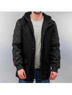 Urban Classics Zomerjas Contrast Hooded Wool zwart