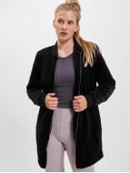 Urban Classics Zomerjas Ladies Long Velvet zwart