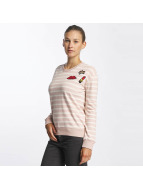 Urban Surface trui Striped Patch rose