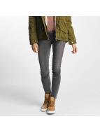 Vero Moda Облегающие джинсы vmFive Slim Fit серый