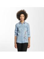 Vero Moda Blouse & Chemise vmViola Embroidery bleu