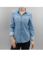 Vero Moda Bluse vmDaisy Denim blau