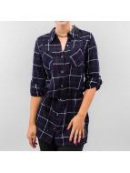 Vero Moda Bluse vmJannet Check Long indigo