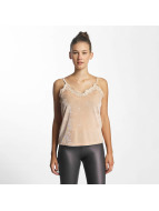 Vero Moda vmAnjela Velvet Singlet Top Rose Cloud