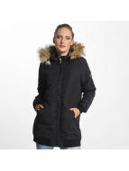 Vero Moda Kabáty vmDicte Fake Fur 3/4 modrá