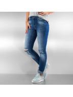 Vero Moda Kapeat farkut vmSeven Super Slim Kneecut sininen