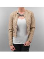 Vero Moda Leather Jacket Artist Short Pu beige