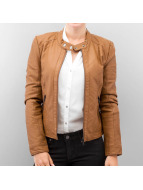 Vero Moda Leather Jacket Babe Short Pu Leather brown