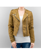 Vero Moda Leather Jacket vmAria Donna brown