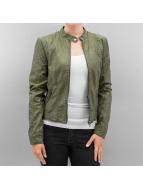 Vero Moda Leather Jacket vmMira khaki