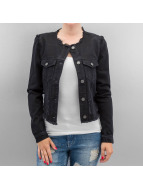 Vero Moda Lightweight Jacket vmMiri Denim Destroy black