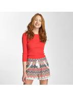 Vero Moda Pullover vmEmma 3/4 Squared Neck rouge