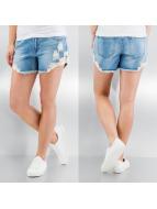 Vero Moda Shorts vmBe Paula Lace bleu