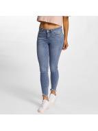 Vero Moda Skinny Jeans vmSeven Hem blau