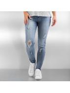 Vero Moda Skinny Jeans vmSeven Zip Ankle niebieski