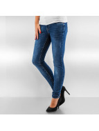 Vero Moda Skinny Jeans vmFive Super Slim Destroyed niebieski