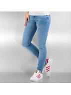 Vero Moda Skinny Jeans vmFive Low Superslim Destroyed niebieski