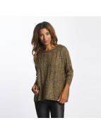 Vero Moda Swetry vmAmanda oliwkowy