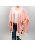 Vero Moda Swetry rozpinane vmTessa Poncho rózowy