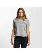 Vero Moda T-shirt vmAnn Smile grå