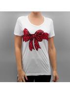 Vero Moda T-Shirt VmChristmas Sequin weiß