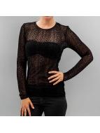 Vero Moda Tričká dlhý rukáv pcLeolia èierna