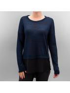Vero Moda Tričká dlhý rukáv VMJulia modrá