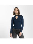 Vero Moda Tričká dlhý rukáv vmJennie modrá