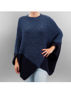 Vero Moda Tröja cmProud Knit Poncho blå