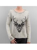 Vero Moda trui VMEkinda Deer khaki