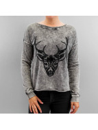 Vero Moda trui VMEkinda Deer zwart