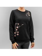 Vero Moda trui Vmflower Embroidery zwart