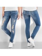 Vero Moda Tynne bukser vmFive Low Super Slim blå