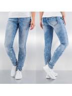 Vero Moda Tynne bukser vmFive Slim Paint blå