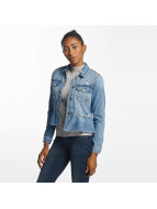 Vero Moda vmMerny Ruffle Denm Jacket Medium Blue Denim