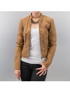 Vero Moda Veste en cuir Scout Short PU brun