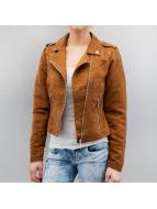 Vero Moda Veste en cuir vmMadden Diva brun