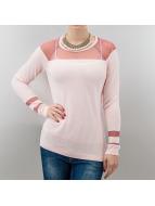 VILA Pullover See Knit rosa