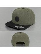 Volcom Snapback Cap Quarter Fabric grün