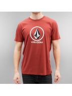 Volcom T-Shirt Circlestone Basic rouge